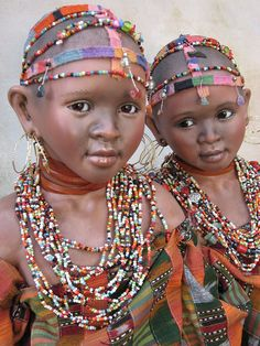These beautiful Maasai girls are from East Africa.