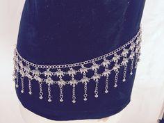 Hip chain, Popular beach Jewelry, silver chain jewellery, boho hip belt jewelry…