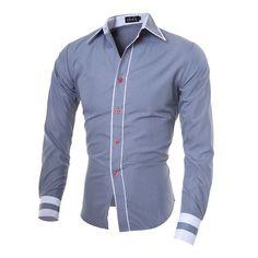 Fashion Long Sleeve Casual Men Shirt