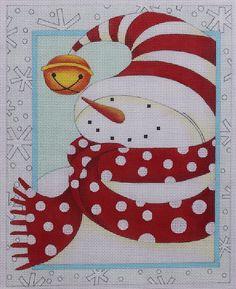 Ewe Eye Cozy Snowman by Karen Cruden Ewe 421 Hand Painted Needlepoint Canvas   eBay