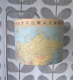 vintage map lampshade by photos from the old lamp shed, via Flickr