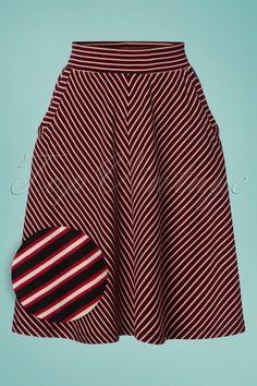 b39b4a3712 60s Sofia Slim Shady Skirt in Ruby Red