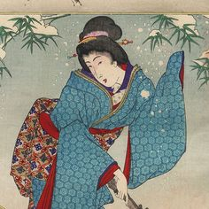 No. 23, Meng Zong: Tears That Brought Bamboo Shoots From The Frozen Earth by Chikanobu (1838 - 1912)