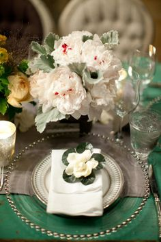 Silver detail Table Setting...