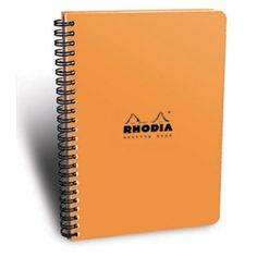 Rhodia Classic Meeting Book, Orange, Lined, 6 ½ x 8 ¼