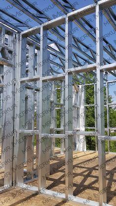 NÁSTAVBA-Z-TENKOSTĚNNÉ-OCELOVÉ-KONSTRUKCE (19) Steel Framing, Steel Frame House, Steel Buildings, House Roof, Drywall, Metal Working, Camper, Container, Technology