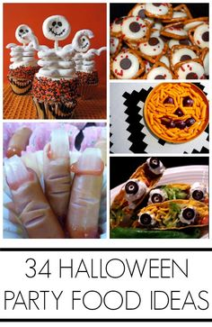 Halloween party food ideas! +lots of non candy options!