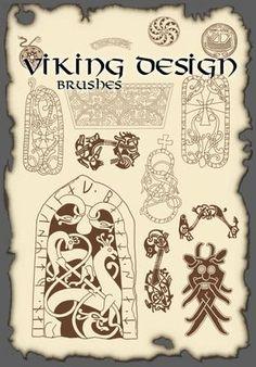 The high definition Vikings Viking design pattern PS brush Norse Pagan, Norse Symbols, Ancient Symbols, Viking Knotwork, Viking Runes, Rune Tattoo, Norse Tattoo, Celtic Knot Tutorial, Les Runes