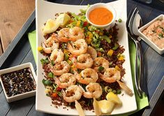 Grilled Shrimp with Two Dipping Sauces