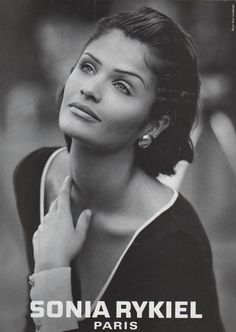 ☆ Helena Christensen | Photography by Peter Lindbergh | For Sonia Rykiel…                                                                                                                                                                                 More