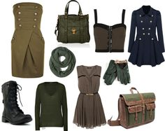 """military"" by hazalmazal ❤ liked on Polyvore"