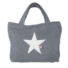 Strandtaschen mit Stern aus Frottee. Beach Bags, Pool Bags, Rucksack, Clutch und Armbänder. Im Online-Shop bestellen!