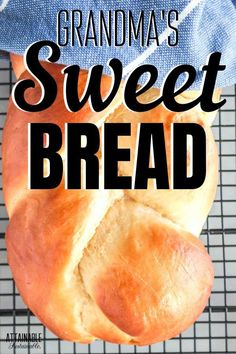 This Portuguese sweet bread recipe -- or Easter bread -- has been passed down through several generations; serve warm with a pat of butter! Best Bread Recipe, Bread Recipes, Baking Recipes, Real Food Recipes, Portuguese Sweet Bread, Portuguese Recipes, Italian Easter Bread, Bread Winners, Dinner Rolls Recipe