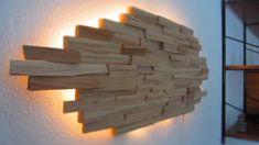 LED Designer Wandbeleuchtung Wandlampe Lampe Unikat aus Holz in Regensburg