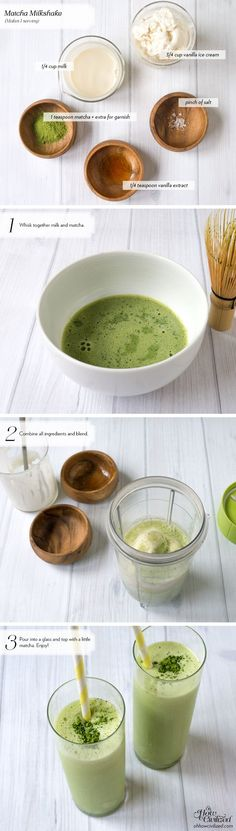 This matcha milkshake is super easy to make and completely delicious. A little too easy to make, which means it can easily get out of control.
