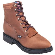 Justin Boots: Men's 768 USA-Made Brown 6-Inch EH Leather Work Boots,    #Boots,    #768,    #JustinBoots