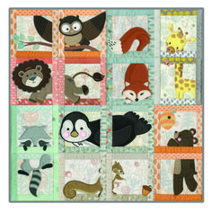 peekaboo animal quilt pattern