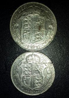 1921 silver half crowns.