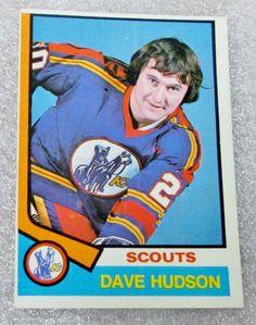 1974-75 O PEE CHEE DAVE HUDSON CARD! KANSAS CITY SCOUTS VG-NM -- Set break | eBay