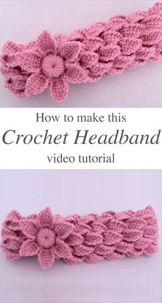 knit headband pattern Watch the free video tutorial to learn how to make this crochet headband with braids of leaves and a flower in Tunisian knit stitch. Mode Crochet, Crochet Fox, Crochet Crafts, Easy Crochet, Crochet Hooks, Crochet Projects, Crochet Stitch, Bandeau Crochet, Crochet Headband Free