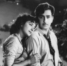 Nargis and Raj Kapoor in the film 'Chori Chori'