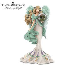 Thomas Kinkade Guardian of the Garden of Prayer Angel Figurine