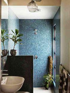 The design Files - small bathroom design Laundry In Bathroom, Bathroom Renos, Bathroom Interior, Master Bathroom, Bathroom No Window, Zen Bathroom, Modern Bathroom, Bad Inspiration, Bathroom Inspiration