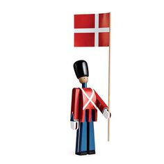 The #RoyalLifeGuards (#DenKongeligeLivgarde) have watched over Demark's castles since 1658 - with their bearskin hats, red gala uniform and a cross on their fronts.  The order was created by King Frederik III and serves two roles: as a front line combat unit, and as a guard/ceremonial unit to the Danish monarchy.  #KayBojesen's #RoyalGuardsmen have watched over #Danish nurseries and living spaces since #1942.  Like their live counterparts, they also serve two roles: as a living room…