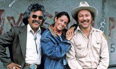 Freddy Fender, left, played a small-town mayor in the 1988 film 'The Milagro Beanfield War,' starring Sonia Braga and Rubén Blades.