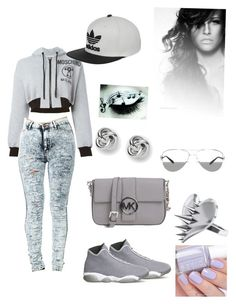 """Young 4 ever"" by reemnagi45512 ❤ liked on Polyvore featuring Moschino, adidas, MICHAEL Michael Kors, LUSASUL, Tiffany & Co., FOSSIL, WWE, NIKE and Essie"
