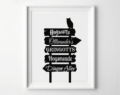 Harry Potter Harry Potter Poster Street Sign Places von PrintyMuch