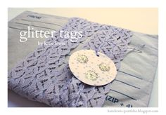 the red kitchen: Glitter Tags Tutorial