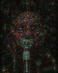 Deep Dream Self Portrait 4/20 by KLMjr. #deepdream #selfportrait #digitalart #digitalmanipulation #420 #trippy #psychedelia #psychedelic by kendrofious_morificus