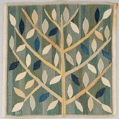 A textile by Barbro Nilsson for Märta Måås-Fjetterström AB. Tree Tapestry, Tapestry Weaving, Art Textile, Textile Patterns, Bauhaus Textiles, Scandinavian Embroidery, Object Drawing, Painted Rug, Tapestry Design