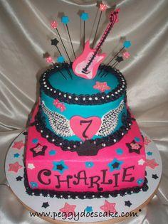 Charlie's Rocker Girl Cake