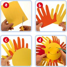 Fun Hand Sun. Use card, paper or foam pieces with the kids and start to teach ESL kids about the weather.