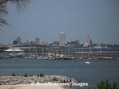 view of downtown milwaukee from bay view's south shore