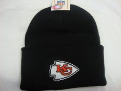 Kansas City Kc Beanie Black Chief Winter Beanie Cuffed by NFL. $8.95. adult size-black color