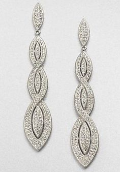 Adriana Orisini Crystal Earrings.  Saks 5th Avenue Exclusive.  3.5 in.  New in box.  $99.  Coutureandfabulous@gmail.com to purchase
