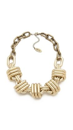 Thick Statement Necklace--perfect with jeans and a crisp white shirt