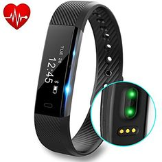 DeYoun Fitness Tracker Band, Smart Bracelet Activity Tracker Watch Heart Rate Monitor Waterproof Pedometer Wristband with Sleep Monitor/Calorie Counter/Step Tracker for IOS and Android Smartphones Fitness Tracker Band, Fitness Tracker Reviews, Smartwatch, Activity Tracker Watch, Arm Workout With Bands, Track Workout, Fitness Activities, Smart Bracelet, Armband