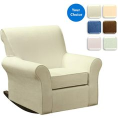 Customize - Dorel Rocking Chair with Slipcover (Your Choice in Color)