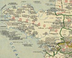 Bretagne. La carte des spécialités gastronomiques de... 1929 ! - #Dataspot - LeTelegramme.fr