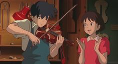 Whisper of the Heart - He plays really adorable the violin ♥