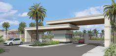 Imagem relacionada Entrance Design, Entrance Gates, Gate Design, Modern Barn House, Modern Houses, Archi Design, Canopy, House Plans, Backyard
