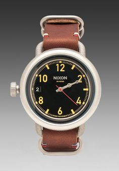 Nixon The October Leather in Black/ Brown