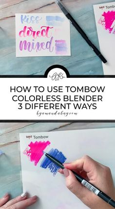Learn how to use those colorless blender brush pens that come in the packs of Tombow brush pens. This video tutorial covers 3 different blending methods for hand lettering. #blending #byamandakay #tombowbrushpens #handlettering #videotutorial Tombow Dual Brush Pen, Hand Lettering Tutorial, Beautiful Lettering, Bullet Journal Inspiration, Journal Ideas, Printable Letters, Brush Lettering, Light In The Dark, Bedrooms