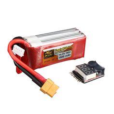 Energía del zop 14.8v 1500mah 4S Monitor de batería remoto XT60 90c batería lipo One enchufe con