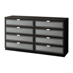 Buy 2, attached back to back, add wheels, granite top and we have a mobile island for Ron for travel packing. HOPEN 8-drawer dresser   - IKEA