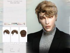 All Hairstyles, Elegant Hairstyles, Female Hairstyles, Sims Hair, Sims 4 Cc Finds, Sims 4 Custom Content, Sims Cc, Curly Hair Styles, Man Hair